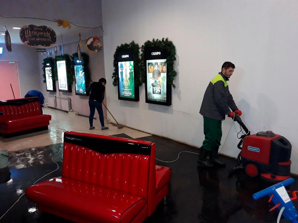 """Кинотеатр """"Октябрь"""" - отмывание плитки"""